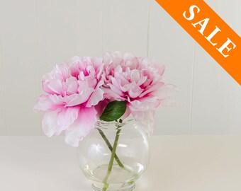 Pink Peony Silk Arrangement - Artificial Flowers - Faux Arrangement - Centerpiece - Home Decor