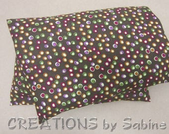 Corn Heating Pad washable cover Microwave Corn Pillow Therapy Corn Pack Brown Dots Purple Fusia Green Earth Tones READY TO SHIP (511)