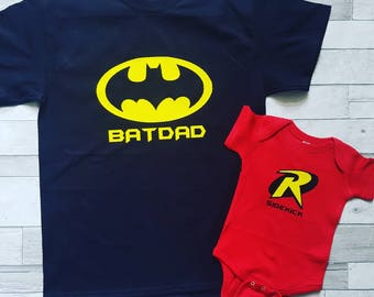 Batdad and Sidekick Father and child set.