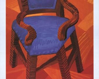 David Hockney-Chair-1985 Poster