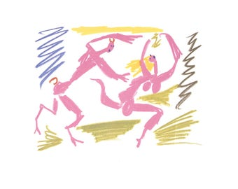 Pablo Picasso-Satyr Chasing Woman-1988 Poster
