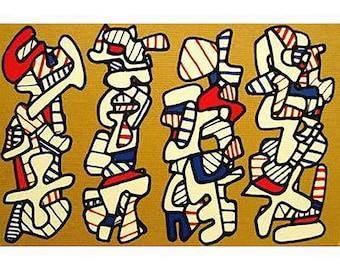 Jean Dubuffet-La Botte A Nique-1973 Serigraph