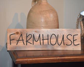Farmhouse Cedar Shingle Sign