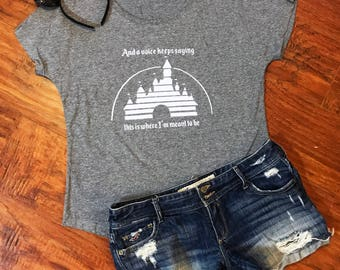I Belong at Walt Disney World Triblend Dolman Top | Cinderella's Castle | Go the Distance | Hercules Quote | Disney Shirt | Disneyland