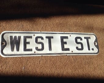 VINTAGE STREET SIGN, road name sign