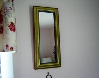 Narrow wall mirror etsy for Narrow wall mirror decorative