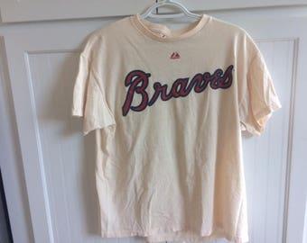 braves t shirt hayward size large