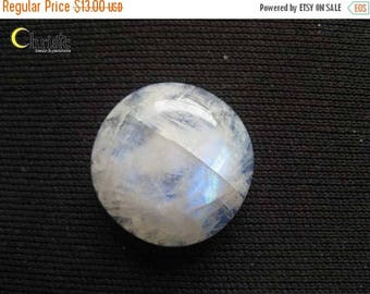 SALE Rainbow Moonstone Round Cabochon 18.5mm