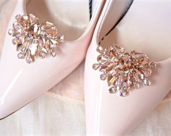 Blush Rhinestone Shoe Clips,Blush Bridal Shoe Clips,Blush Wedding Shoe Clips,Blush Shoe Jewelry,Blush Crystal Shoe Clip,Blush Shoe Accessory