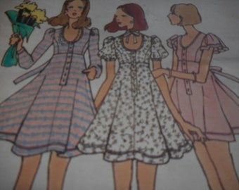 Vintage 1970's Butterick 6978 Betsey Johnson Dress Sewing Pattern Size 10 Bust 32.5