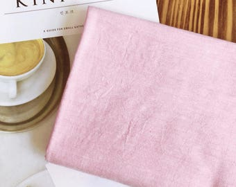 Pre-washed Solid Vintage Cotton Fabric - Pink - By the Yard 100079