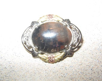 Old Sterling Silver Pin Brooch Vintage Costume Jewelry #2051