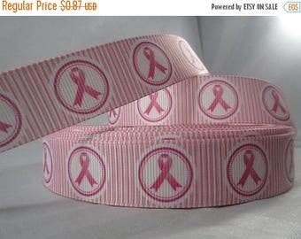 """save the ta-tas, Awareness Ribbon, Breast cancer Awareness ribbon, 7/8"""" Ribbon, Grosgrain Ribbon, Pink awareness ribbon, RN17034"""