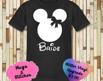 Mickey Bride and Groom Disney Shirt