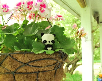 Crochet Chibi Giant Panda - ENDANGERED