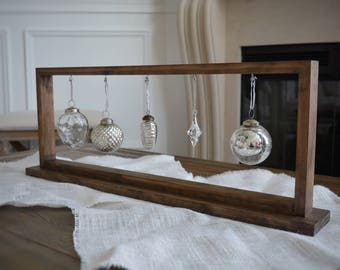 SALE Rustic Stained Christmas Ornament Display/Ornament Hanger Centerpiece