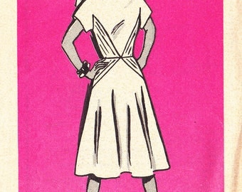 FF RARE 1960s Short Sleeve Dress Pattern with Waist Interest Back Zip Vintage Sewing Pattern, Mail Order 4997, Size 14, Bust 36, UNCUT