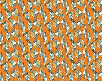 Leaves Orange Organic Cotton Knit - Picnic Whimsy (6006.24.00.00)