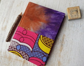 2018 Hourly Index Diary Planner Calendar Agenda African Print Vibrant Unique Original Hardback - Ankara Kitenge Wax Capulana Print