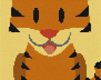 Needlepoint Kit or Canvas: Tiger