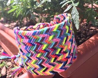 Hand woven cuff bracelet