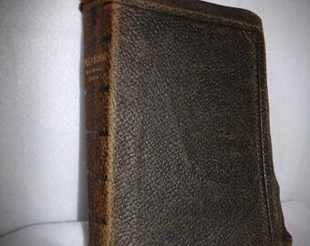 1914  Holy Bible Red Letter Edition .Minister's Bible .King James Version Bible. Religious Gift .Leather Bible. Antique Bible .     .