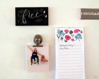 Fridge Magnet, Mini chalkboard, handpainted grace, custom chalk board, kitchen decor, refrigerator magnet  handmade gift, gift under 10