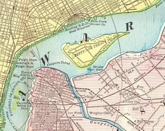 Vintage Philadelphia Map Etsy - Philadelphia map