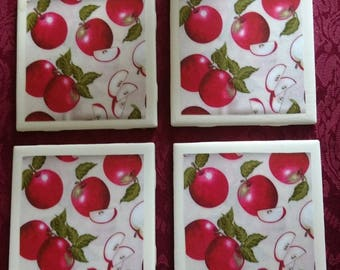 Apple a Day Coasters