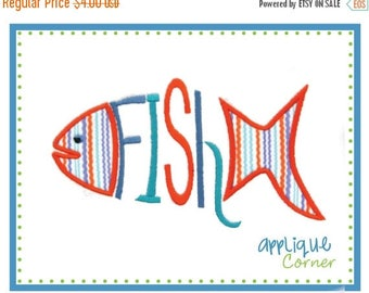 50% Off 540 Fish Word applique digital design for embroidery machine by Applique Corner