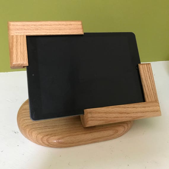 Partial Picture Frame Tilting iPad Air Stand for Square POS / Natural finish Red Oak