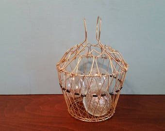 Gold Collaspible French Egg Basket