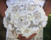 GLAMOROUS BROOCH BOUQUET for this Gorgeous Custom Jeweled Bridal Brooch Bouquet, Jeweled Bouquet, Balance for Kimberly