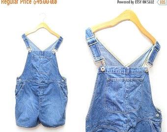 ON SALE 90s Women's Denim Overalls Medium Wash Gap XXL Plus Size