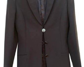 SALVATORE Ferragamo Dark Brown Women's Blazer Jacket