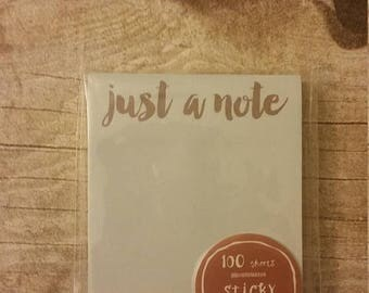 On Clearance Planner Accessory - Sticky Notepad - Target Dollar Spot - Stationery Set