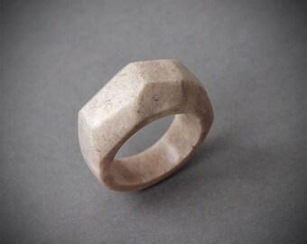 Antler ring, Size 8 US, Antler rings, Antler jewelry, Deer antler, Faceted ring, Geometric ring, Geometric jewelry, Antler statement ring