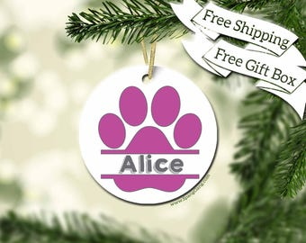 Dog Ornament | Pet Christmas Gift | Cat Ornament | Dog Christmas | Cat Christmas | Personalized Pet Gift Idea