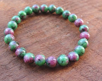 Purity Bracelet, Red Ruby Jade Bracelet, Chakra Bracelet, Healing Meditation Bracelet, Yoga Bracelet, Gemstone Bracelet, Harmony Bracelet