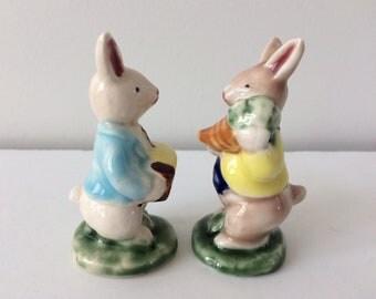 vintage bunny rabbit figurines
