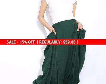 Harem Pants, linen pants, pants, linen harem pants, women harem pants, green pants, trousers, linen trousers, pants women C317