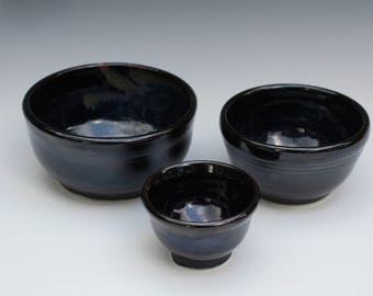 Set of Black Bowls