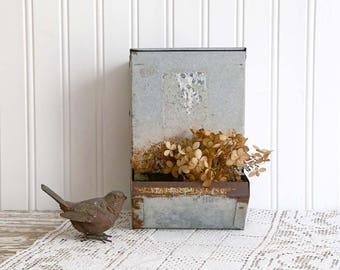 Vintage Chicken Feeder, Galvanized Chicken Feeder, Vintage Farmhouse Decor, Rustic Home Decor, Rustic Kitchen Wall Decor