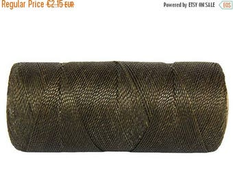 ON SALE Bracelet Cord - 15 meters/16 yards - Waxed Polyester - Jewelry Cord - Moss Green