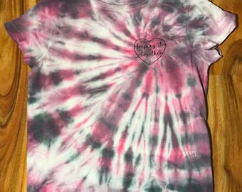 Unique hand dyed Keeping it Together shirt. Size small.