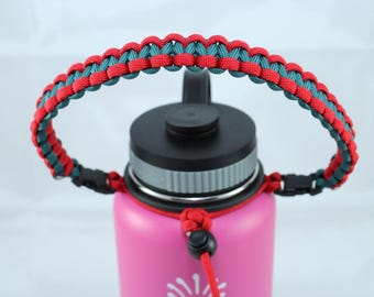 Red & Teal Color Paracord Handle