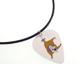 The Beatles Yellow Submarine/JEREMY HILLARY BOOB Album Cover Art Genuine Guitar Pick Necklace