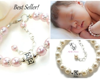 Baby Bracelet, Personalized Baby Bracelet, Baby Gifts, Little Girl Bracelet, Personalized Girl Gift, New Baby Gift, Little Girl Gifts