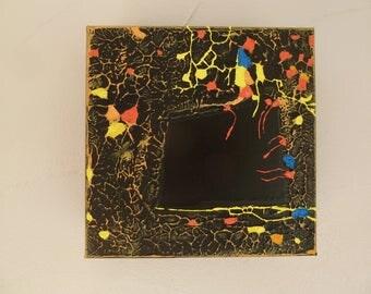 Blackboard abstract square cube No. 18