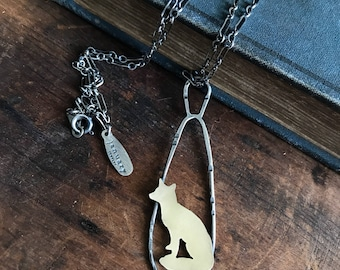 Fox Pendant Necklace - Fox Necklace